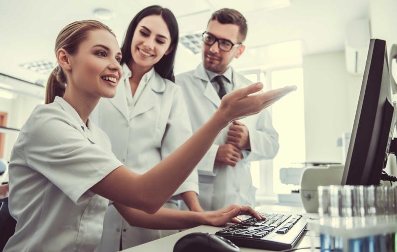 Arztpraxis-Team Besprechung